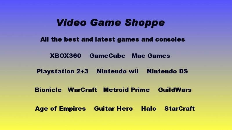 video game shoppe click here